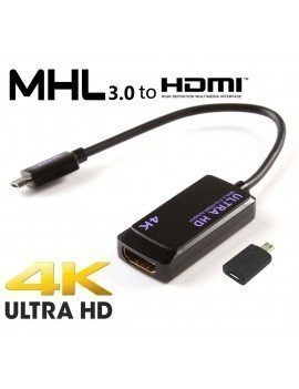 Cable adaptador micro-USB a HDMI 4K