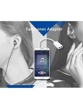 Adaptador 2 en 1 Audio 3.5mm