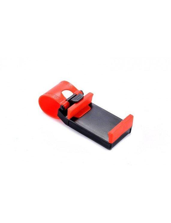 Mobile steering wheel car mount Red