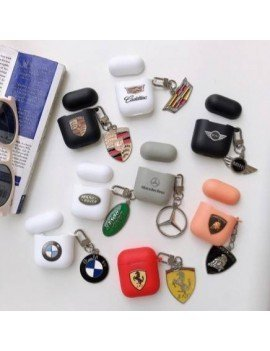 Car Brand Case + keychain for AirPods