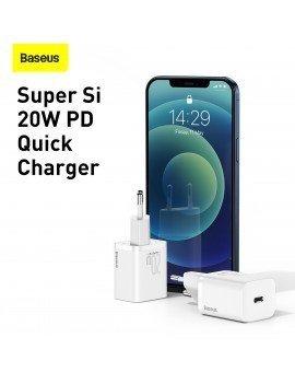 Baseus Super-Si Cargador 1C 20W Blanco