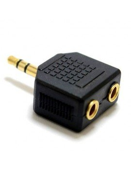 Duplicador conector audio 3.5